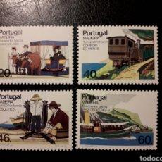 Sellos: MADEIRA (PORTUGAL) YVERT 105/8 SERIE COMPLETA NUEVA SIN CHARNELA. TRANSPORTES TÍPICOS.. Lote 156557093