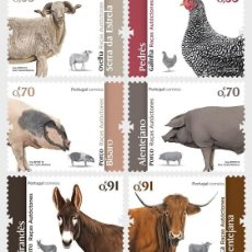 Sellos: PORTUGAL 2019 - PORTUGUESE AUTOCHTONOUS BREEDS STAMP SET MNH. Lote 156807662