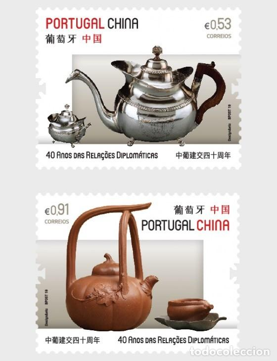 Sellos: Portugal 2019 - Joint Issue Portugal - China stamp set mnh - Foto 1 - 156808410