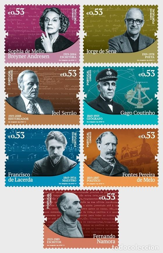 PORTUGAL 2019 - FIGURES IN PORTUGUESE HISTORY AND CULTURE STAMP SET MNH (Sellos - Extranjero - Europa - Portugal)