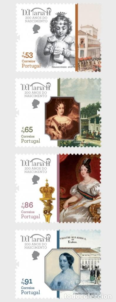 PORTUGAL 2019 - QUEEN MARY II OF PORTUGAL STAMP SET MNH (Sellos - Extranjero - Europa - Portugal)
