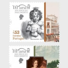 Sellos: PORTUGAL 2019 - QUEEN MARY II OF PORTUGAL STAMP SET MNH. Lote 156808930