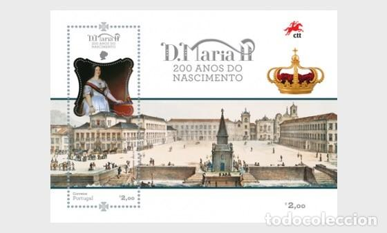 PORTUGAL 2019 - QUEEN MARY II OF PORTUGAL SOUVENIR SHEET MNH (Sellos - Extranjero - Europa - Portugal)