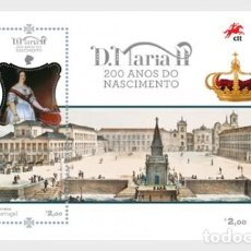 Sellos: PORTUGAL 2019 - QUEEN MARY II OF PORTUGAL SOUVENIR SHEET MNH. Lote 156809102