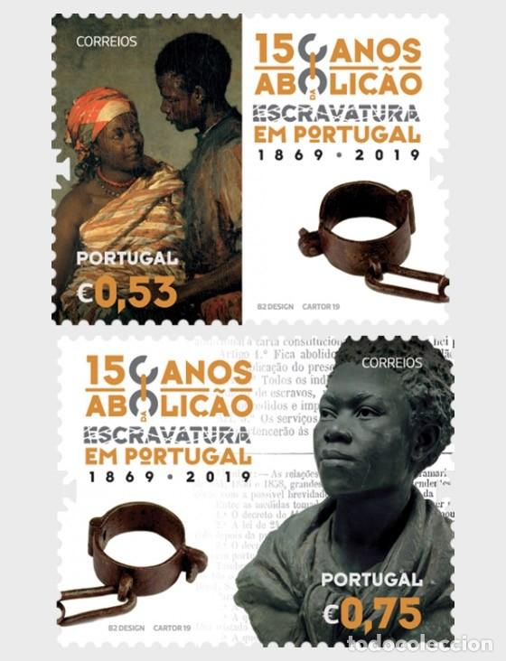 PORTUGAL 2019 - 150 YEARS OF THE ABOLITION OF SLAVERY IN PORTUGAL STAMP SET MNH (Sellos - Extranjero - Europa - Portugal)