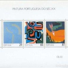 Sellos: PORTUGAL 1989 HB IVERT 68 *** PINTURA PORTUGUESA DEL SIGLO XX (IV). Lote 157383898