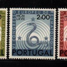 Sellos: PORTUGAL 1021/23** - AÑO 1967 - CONGRESO EUROPEO DE REUMATOLOGIA. Lote 158555674