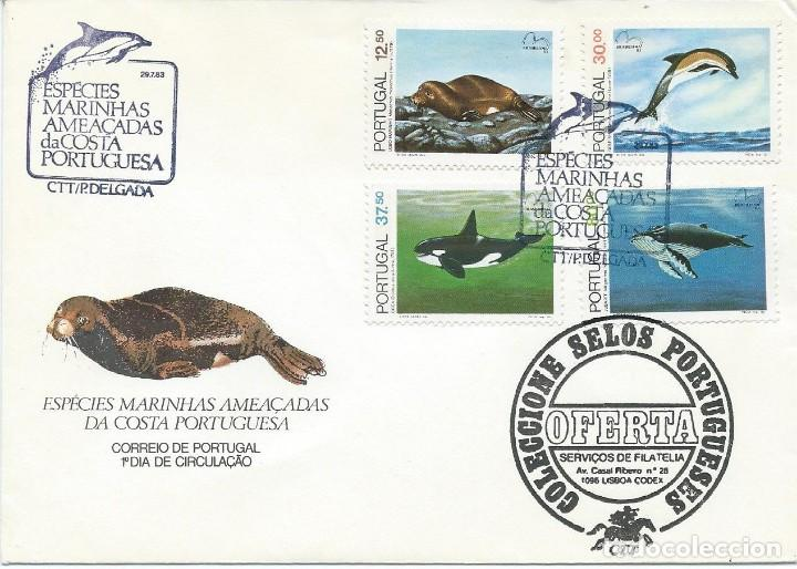 1983. PORTUGAL. SPD/FDC. YT 1583/6. FAUNA MARINA AMENAZADA. MARINE WILDLIFE. NATURALEZA/NATURE. (Sellos - Extranjero - Europa - Portugal)