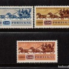 Sellos: PORTUGAL 919/21** - AÑO 1963 - CENTENARIO DE LA PRIMERA CONFERENCIA POSTAL INTERNACIONAL DE PARIS. Lote 159390834