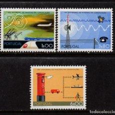 Sellos: PORTUGAL 1189/91** - AÑO 1973 - 25º ANIVERSARIO DEL MINISTERIO DE COMUNICACIONES. Lote 159391350