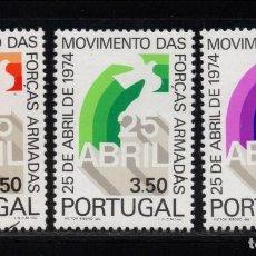 Sellos: PORTUGAL 1246/48** - AÑO 1975 - REVOLUCION DE LOS CLAVELES. Lote 159391826