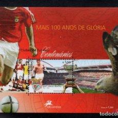 Sellos: PORTUGAL HB 240** - AÑO 2005 - FUTBOL - CENTENARIO DEL CLUB DEPORTIVO BENFICA. Lote 159394062