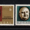 Sellos: PORTUGAL 966/67** - AÑO 1965 - 10º ANIVERSARIO DE LA MUERTE DE CALOUSTE SARKIS GULBENKIAN. Lote 163747670