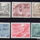 Sellos: PORTUGAL 1110/15** - AÑO 1971 - ESCULTORES PORTUGUESES . Lote 163747930