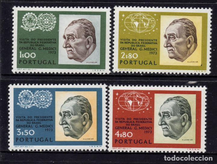 PORTUGAL 1182/85** - AÑO 1973 - VISITA DEL PRESIDENTE DE BRASIL (Sellos - Extranjero - Europa - Portugal)