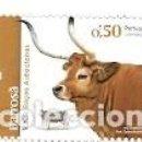 Sellos: PORTUGAL ** & RAZAS AUTÓCTONAS DE PORTUGAL, VACA, BOS TAURUS 2018 (5551). Lote 165126378