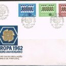 Sellos: [CF1397] PORTUGAL 1962, FDC SERIE EUROPA (NS). Lote 165681474