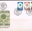 Sellos: [CF1399] PORTUGAL 1964, FDC SERIE EUROPA (NS). Lote 165701438