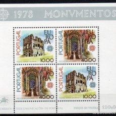 Sellos: PORTUGAL AÑO 1978 YV HB 23*** EUROPA - MONUMENTOS Y EDIFICIOS - ARQUITECTURA. Lote 168635592