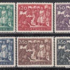 Sellos: PORTUGAL, 1946 YVERT Nº 696 / 701 /**/, SIN FIJASELLOS, . Lote 171038312