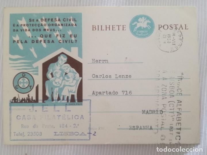 BILHETE POSTAL. (Sellos - Extranjero - Europa - Portugal)