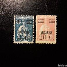 Sellos: AZORES. PORTUGAL. YVERT 300 Y 304 SELLOS SUELTOS NUEVOS CON CHARNELA. SOBRECARGADOS.. Lote 178991603