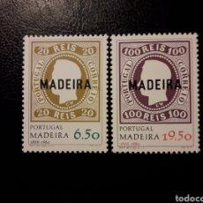 Sellos: MADEIRA. PORTUGAL. YVERT 67/8. SERIE COMPLETA NUEVA SIN CHARNELA. SELLOS SOBRE SELLOS. Lote 178992282