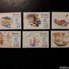 Sellos: MADEIRA. PORTUGAL. YVERT 69/74. SERIE COMPLETA NUEVA SIN CHARNELA. TURISMO. VINO. BARCOS. Lote 178992345