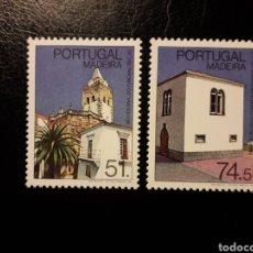 Sellos: MADEIRA. PORTUGAL. YVERT 121/2. SERIE COMPLETA NUEVA SIN CHARNELA. MONUMENTOS.. Lote 178992757