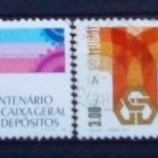 Sellos: PORTUGAL CAJA DE AHORROS PORTUGUESA SERIE DE SELLOS USADOS. Lote 179184228