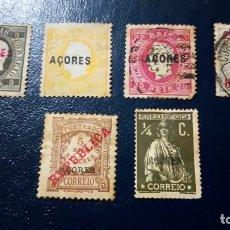 Sellos: LOTE 6 SELLOS ANTIGUOS DE LAS AZORES. Lote 179339451