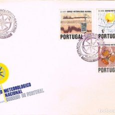 Sellos: PORTUGAL IVERT Nº 1126/8, 15 AÑOS DEL SERVICIO METEOLOGICO, PRIMER DIA DE 29-8-1971. Lote 180204053