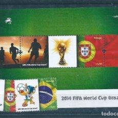 Sellos: PORTUGAL, FIFA WORLD CUP 2014, 6 SELLOS. Lote 182090388
