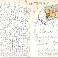 Sellos: PORTUGAL & CIRCULADO, ANGOLA ULTRAMAR, LOBITO, FLAMINGOS, LOBITO A BRANSCOMBE ENGLAND 1969 (46). Lote 183963422
