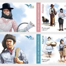 Sellos: PORTUGAL 2019 - COSTUMES OF THE MEDITERRANEAN STAMP SET MNH. Lote 183964932