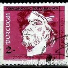 Sellos: PORTUGAL 1990- YV 1794 AFI 1932 (NAVEGANTES PORTUGUESES)(BARRAS FOSFORO AMARILLAS). Lote 184036488