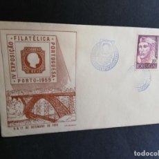 Sellos: SOBRE PRIMER DIA. PORTUGAL. IV EXPOSIÇÄO. FILATELICA PORTUGUESA. PORTO. 1955.. Lote 186135690