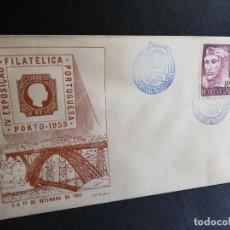 Sellos: SOBRE PRIMER DIA. PORTUGAL. IV EXPOSIÇÄO. FILATELICA PORTUGUESA. PORTO. 1955.. Lote 186139118