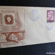 Sellos: SOBRE PRIMER DIA. PORTUGAL. IV EXPOSIÇÄO. FILATELICA PORTUGUESA. PORTO. 1955.. Lote 186141303
