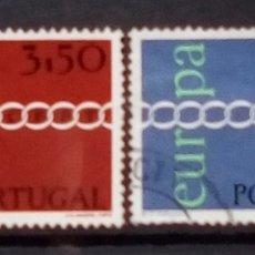 Sellos: PORTUGAL TEMA EUROPA SERIE DE SELLOS USADOS. Lote 189888225