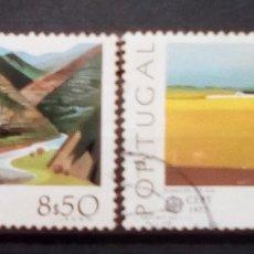 Sellos: PORTUGAL TEMA EUROPA SERIE DE SELLOS USADOS. Lote 189888422