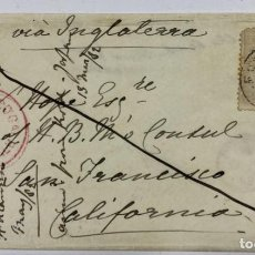 Sellos: SOBRE CON SALIDA DE FUNCHAL VIA INGLATERRA CON MARCA DE LONDRES EN TRANSITO Y LLEGADA SAN FRANCISCO. Lote 190318872