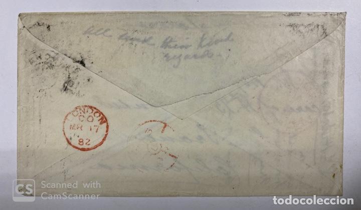 Sellos: SOBRE CON SALIDA DE FUNCHAL VIA INGLATERRA CON MARCA DE LONDRES EN TRANSITO Y LLEGADA SAN FRANCISCO - Foto 2 - 190318872
