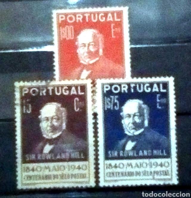 PORTUGAL CENTENARIO DE ROWLAND HILL SERIE DE SELLOS USADOS (Sellos - Extranjero - Europa - Portugal)