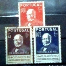 Sellos: PORTUGAL CENTENARIO DE ROWLAND HILL SERIE DE SELLOS USADOS. Lote 206589450