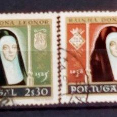Sellos: PORTUGAL REINA LEONOR SERIE DE SELLOS USADOS. Lote 194284445