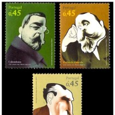 Sellos: PORTUGAL 2007 - PERSONALITIES OF PORTUGUESE HISTORY AND CULTURE STAMP SET MNH. Lote 194646395