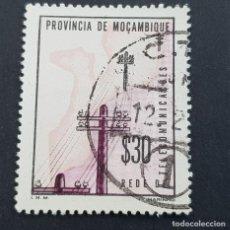 Sellos: MOZAMBIQUE,1965, ASSISTENCIA,TELECOMUNICACIONES, AFINSA 68,YVERT 519, SCOTT RA65,USADO,( LOTE AR ). Lote 194938020