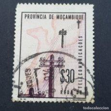 Sellos: MOZAMBIQUE,1965, ASSISTENCIA,TELECOMUNICACIONES, AFINSA 68,YVERT 519, SCOTT RA65,USADO,( LOTE AR ). Lote 194938053