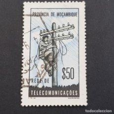 Sellos: MOZAMBIQUE,1965, ASSISTENCIA,TELECOMUNICACIONES, AFINSA 69,YVERT 520, SCOTT RA66,USADO,( LOTE AR ). Lote 194938407